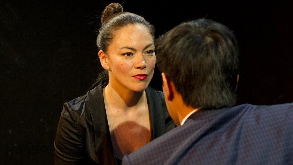 Chloe Ewart and Michael Phong Le in rehearsal for Jingan Young's play Your Only Right is to Obey