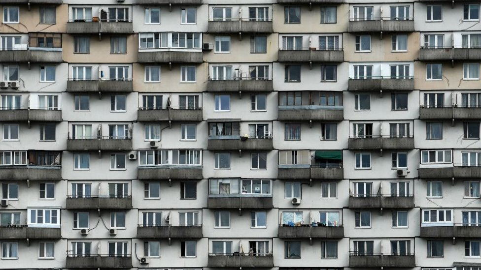 Apartment block in Moscow