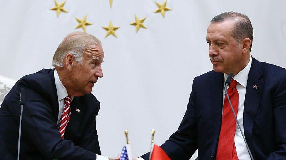 Joe Biden y Recep Tayyip Erdogan