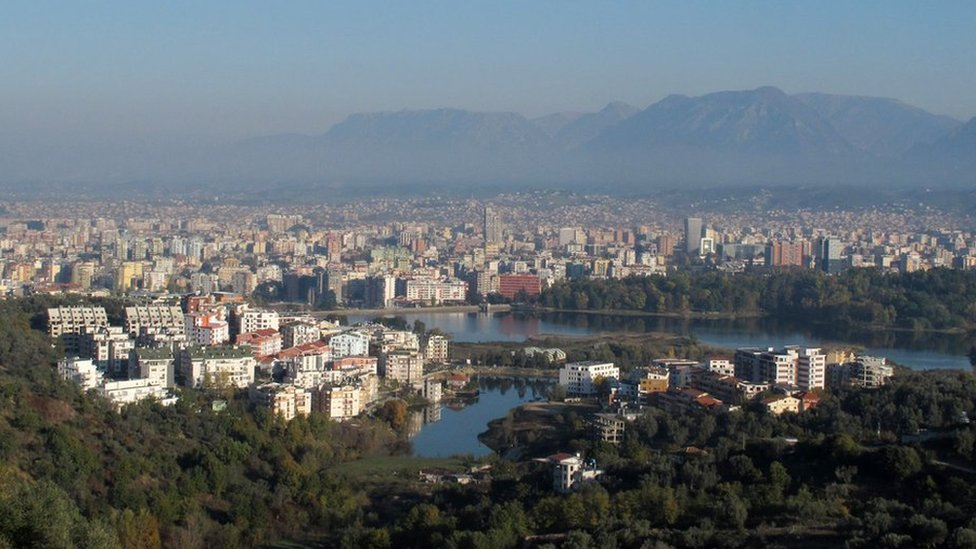 A view of the capital Tirana