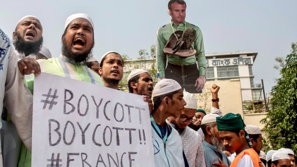 Huge Bangladesh Rally Calls For Boycott Of French Products Bbc News
