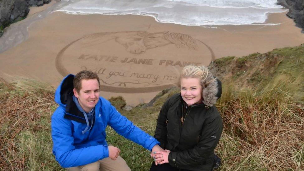 Caleb Jellicoe and Katie Frank