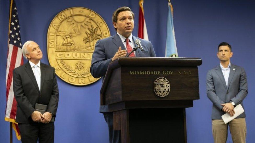 Governador da Flórida discursa