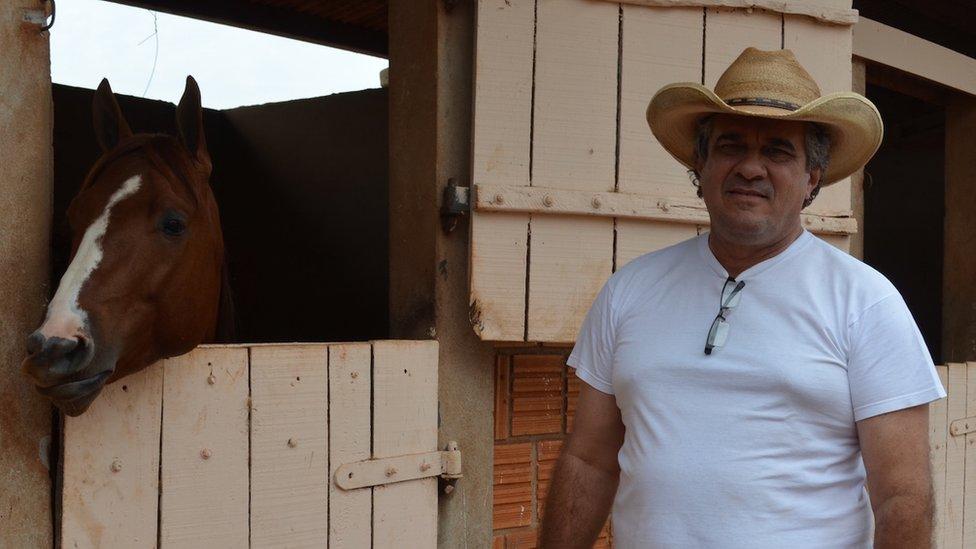 Gino Ferreira with horse 08 September 2015