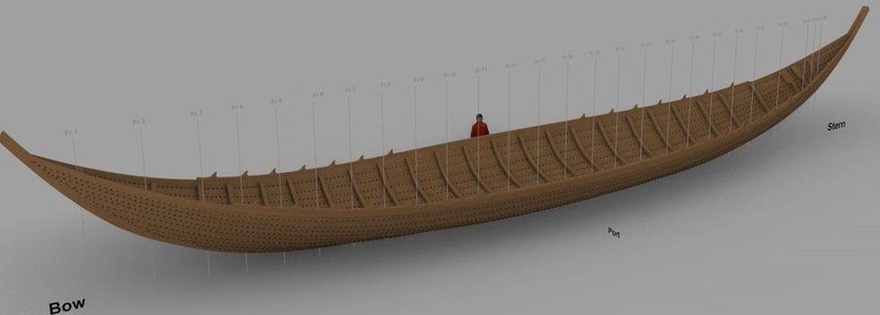 Computer generated model of ship