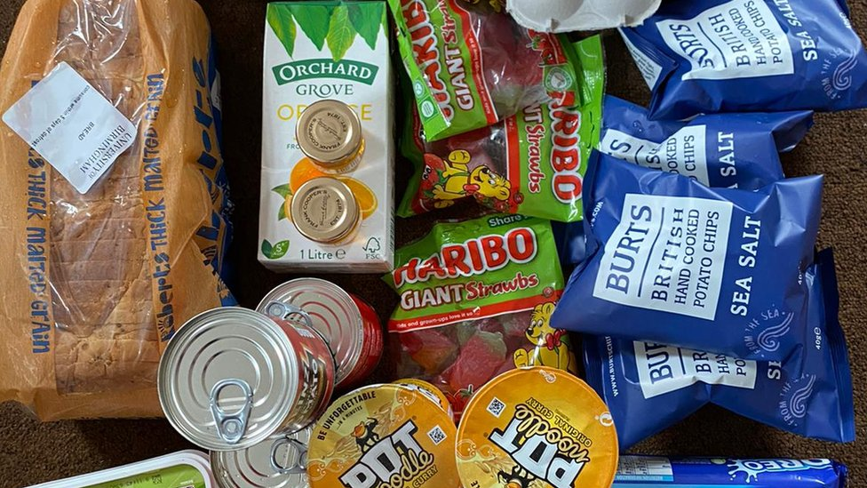 One food parcel given to students in Birmingham