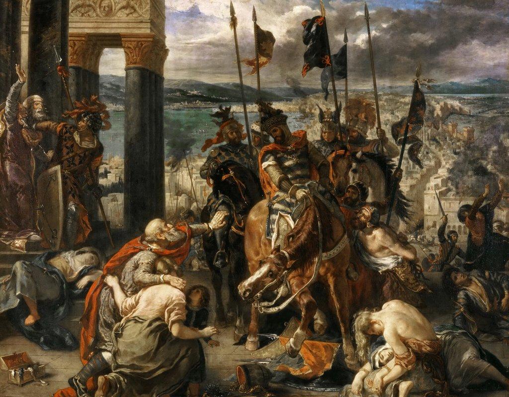 Entrada de los cruzados a Constantinopla Eugène Delacroix