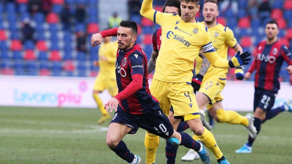 19 Ocak'ta oynanan Bologna - Hellas Verona maçı