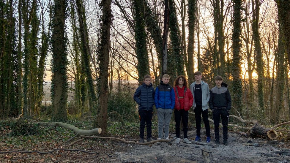 Den burnt down: Boys' creation ruined by arsonists