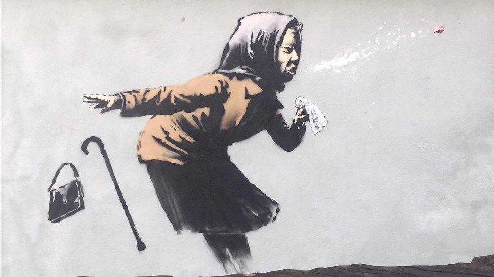 Mystery street art