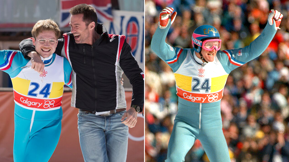 Eddie The Eagle Says Actor Playing Him In Biopic Is Uncannily Like Him Bbc News