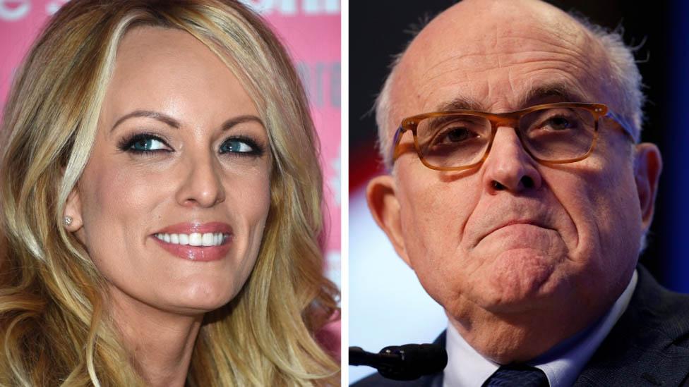 Stormy Daniels and Rudy Giuliani