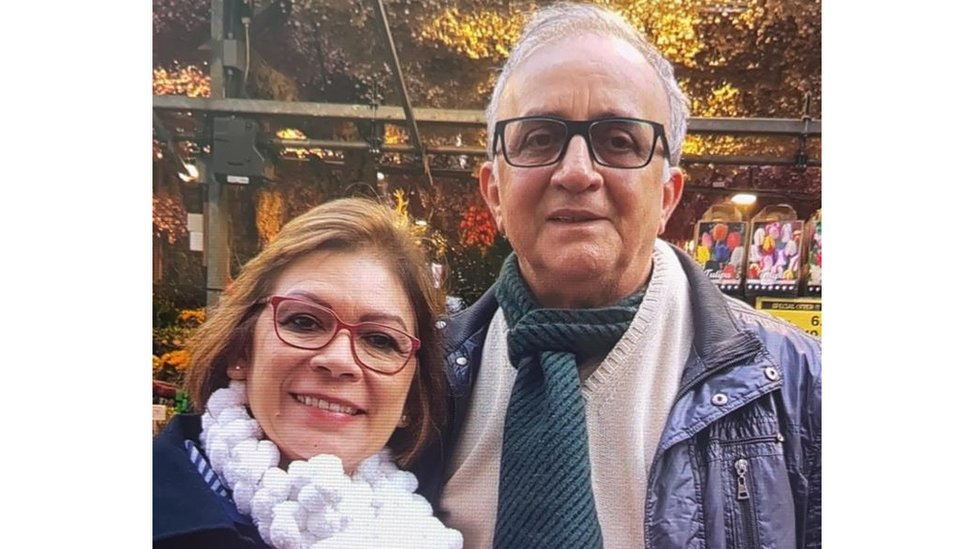 Maria Auxiliadora ao lado do marido, Paulo Jorge Lima