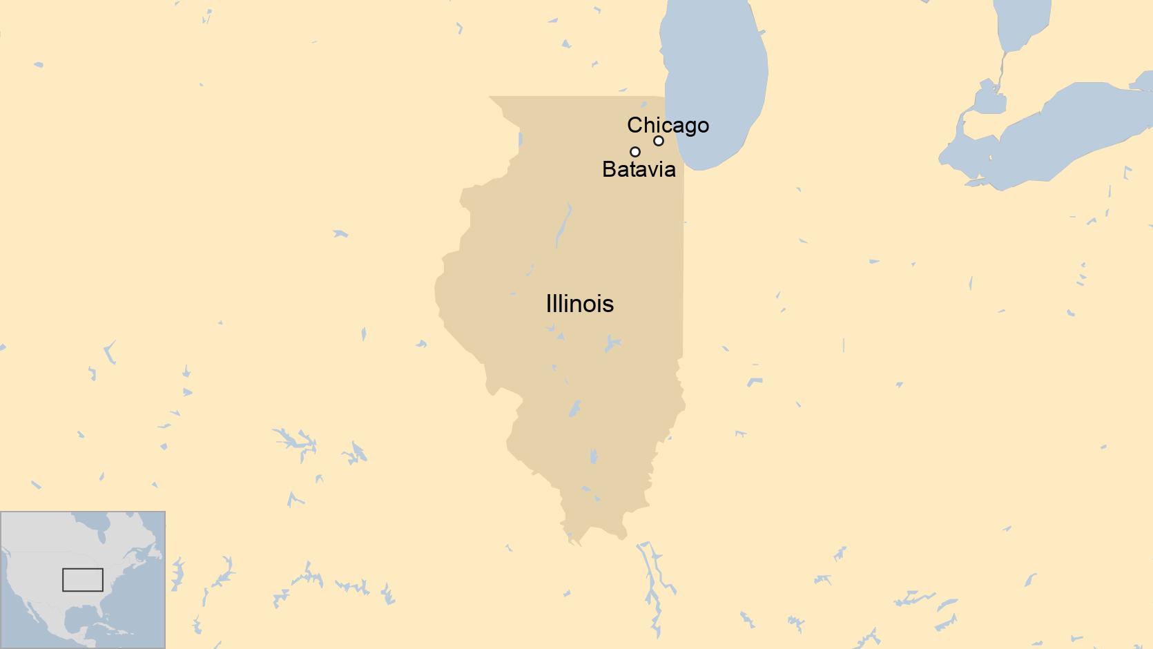 Peta Illinois, AS.
