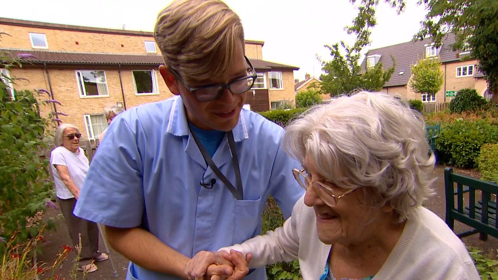 Dementia carer: 'I try not to get upset in my job'