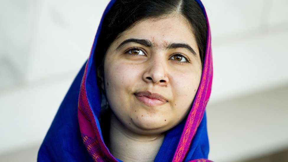 Ms Yousafzai pictured in a close-up headshot at an event in Norway in late 2017
