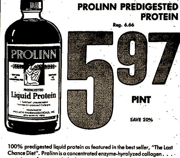 Anuncio de la proteína líquida