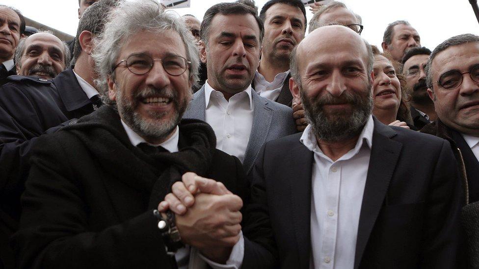 Journalists Can Dundar and Erdem Gul