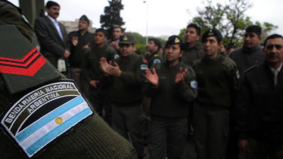 Elementos de la Gendarmería Nacional