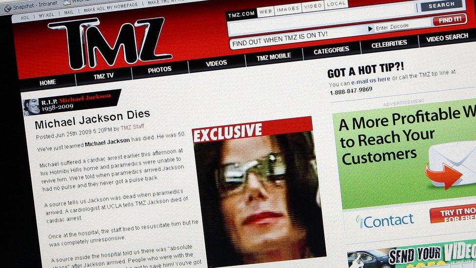 TMZ كان السبّاق في نشر خبر وفاة مايكل جاكسون