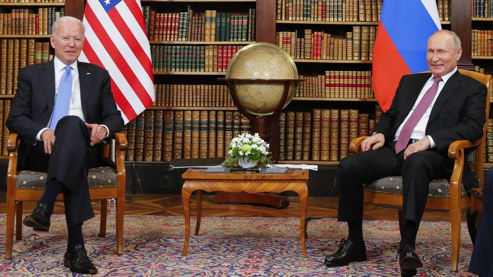 Biden y Putin reunidos en Ginebra.