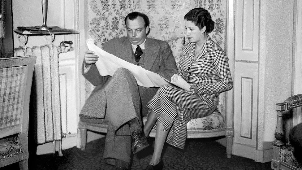 Antoine de Saint-Exupéry con su esposa Consuelo.