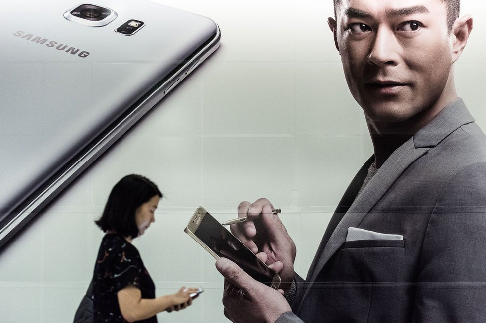Samsung billboard advert