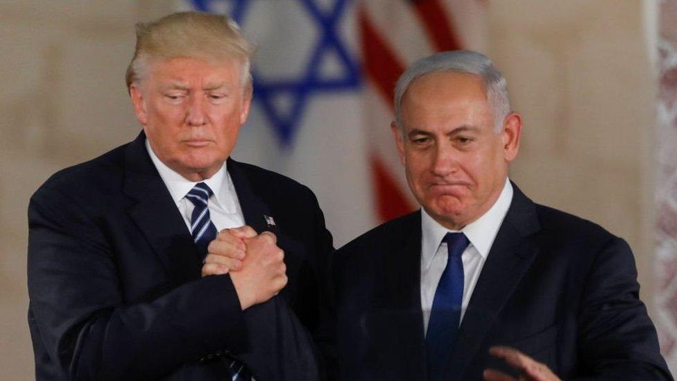 رئيس الوزراء الإسرائيلي نتنياهو والرئيس الأمريكي دونالد ترامب