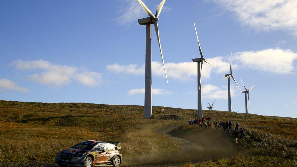 Wind farm in mid-Wales