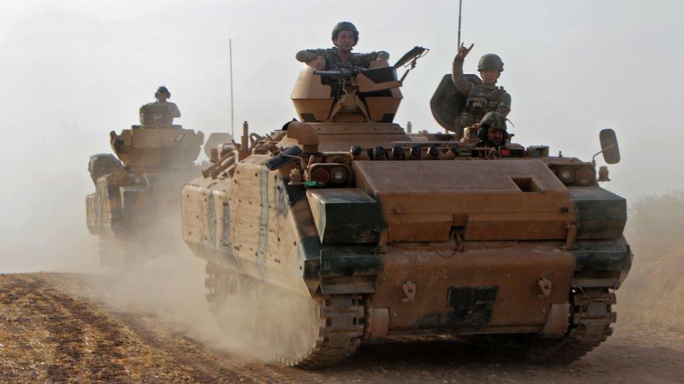 العملية العسكرية التركية ووجهت بهجوم مضاد في رأس العين