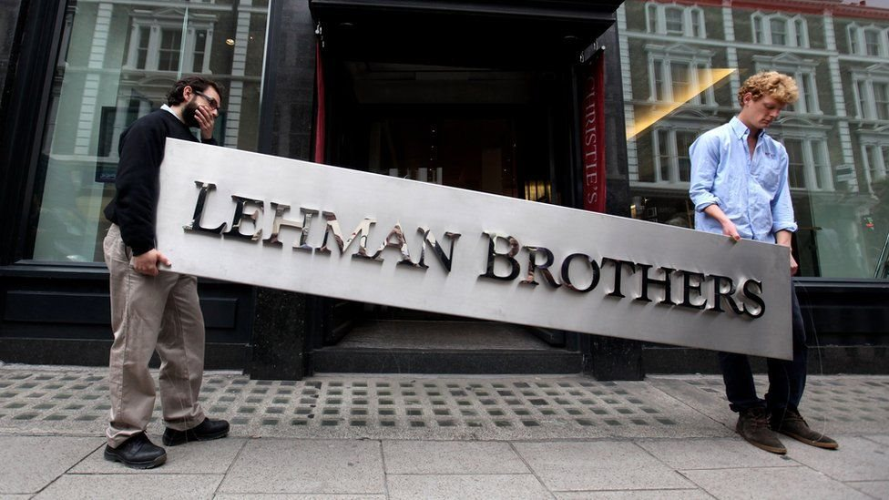 انهيار بنك ليمان براذرز