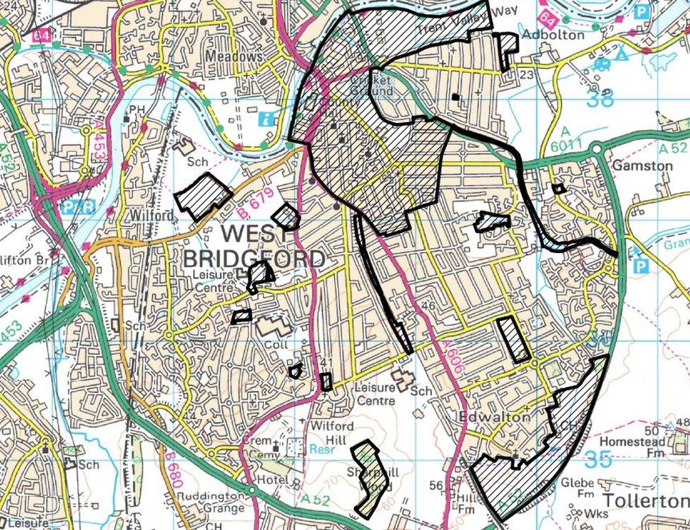 PSPO area on map