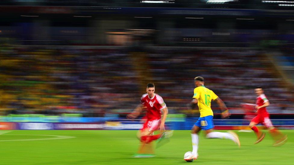 Nejmar na utakmici Srbija - Brazil, 27. jun 2018.