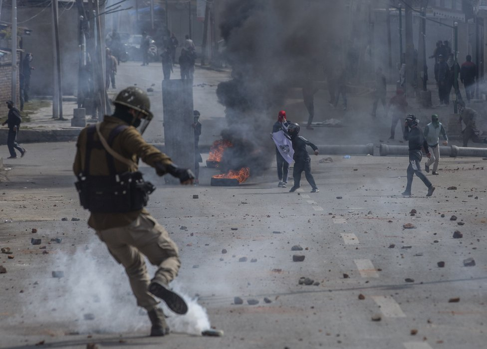 Kashmir has been racked by protests that often turn violent