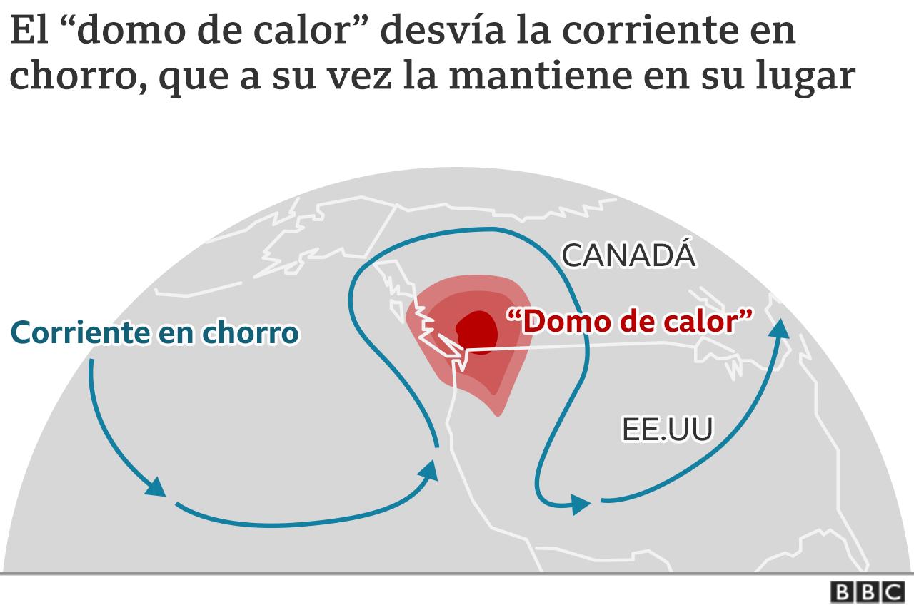 Domo de calor mapa