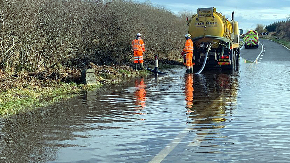 Flooding on A75