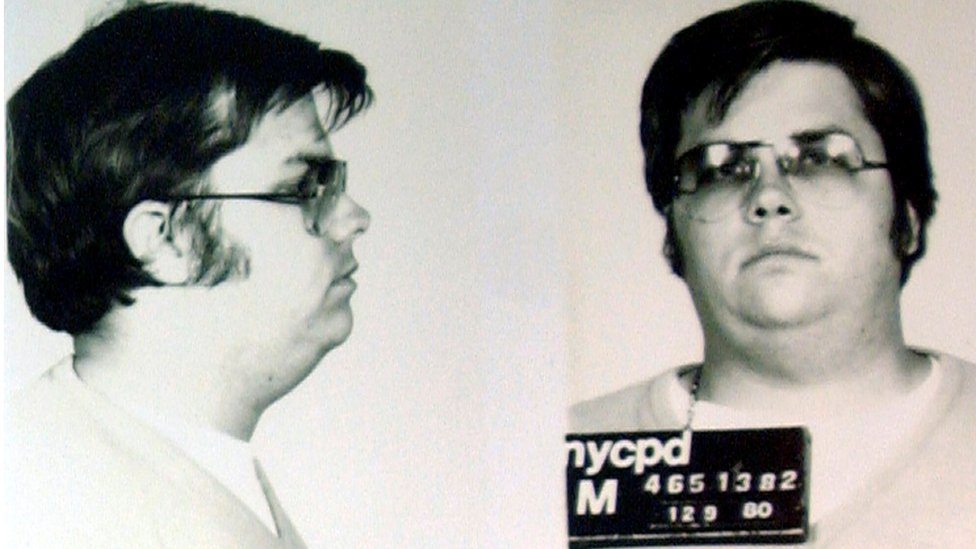 A mug-shot of Mark David Chapman, following his arrest for the murder of John Lennon