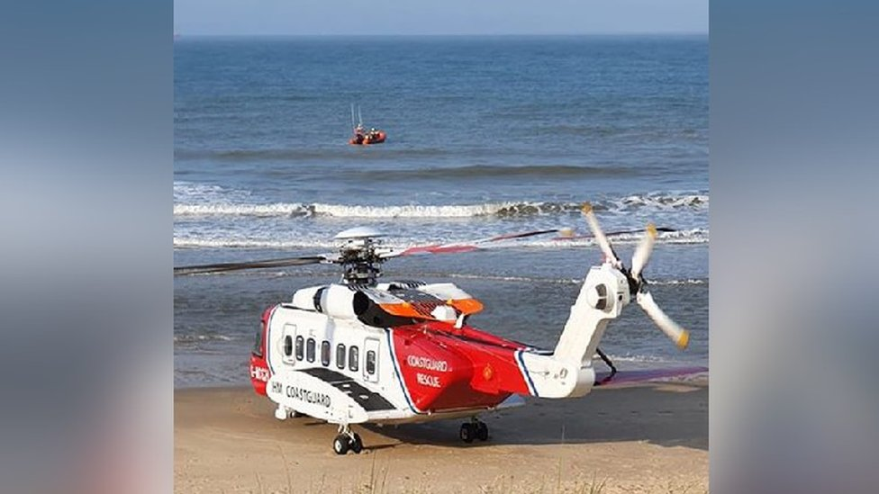 HM Coastguard and the East of England Ambulance Service assisted at the scene