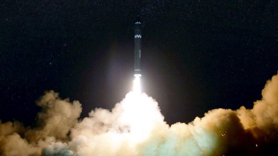 Peluncuran Hwansong-15, yang disebut bisa menjangkau seluruh daratan AS.