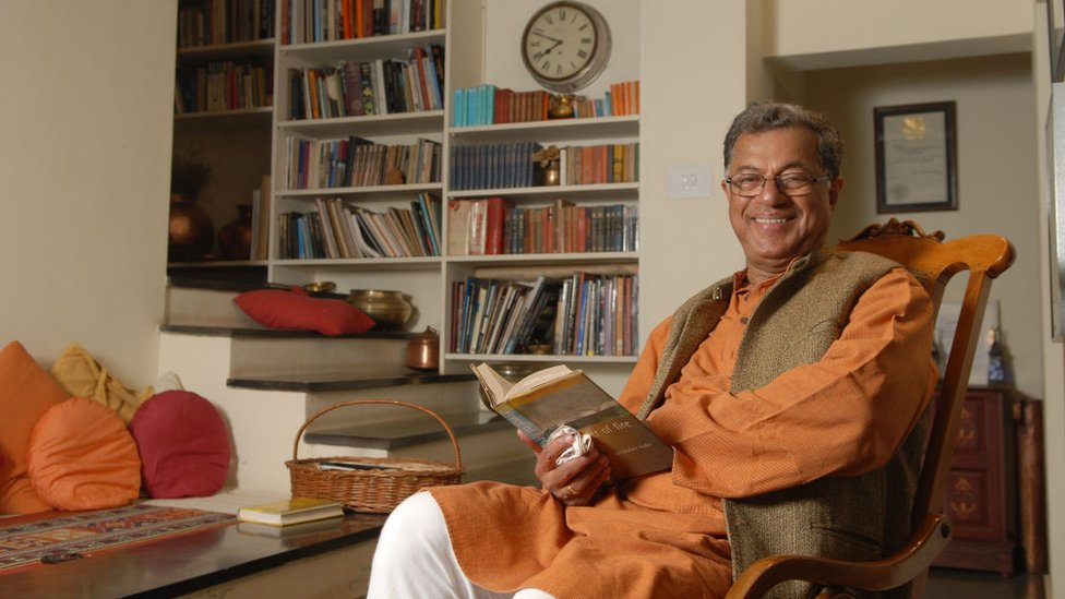 Girish Raghunath Karnad, a contemporary writer, playwriter, actor and movie director in Kannada language poses for a profile shoot on March 7, 2010 in Bangalore, India.