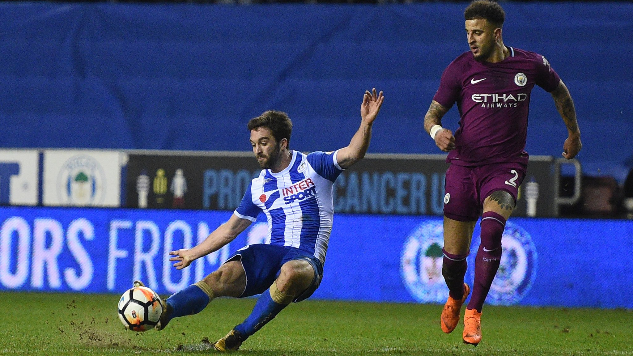 FA Cup: Will Grigg's goal against Manchester City send Wigan into quarter-finals