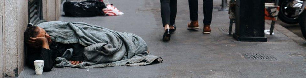 Homeless person, San Francisco
