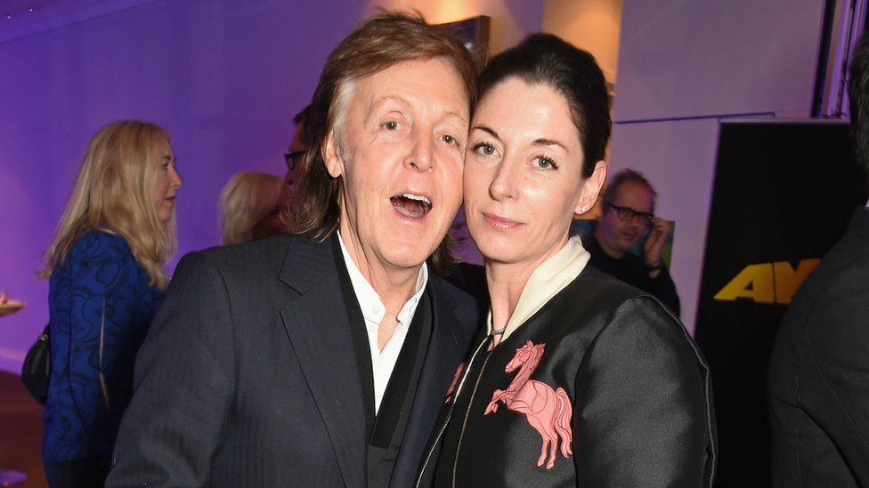 Sir Paul McCartney with daughter Mary