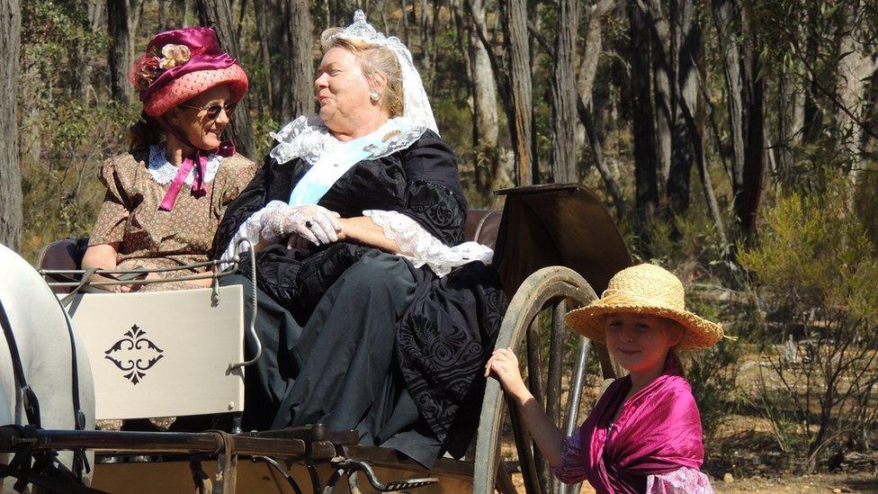 Woman in Queen Victoria costume