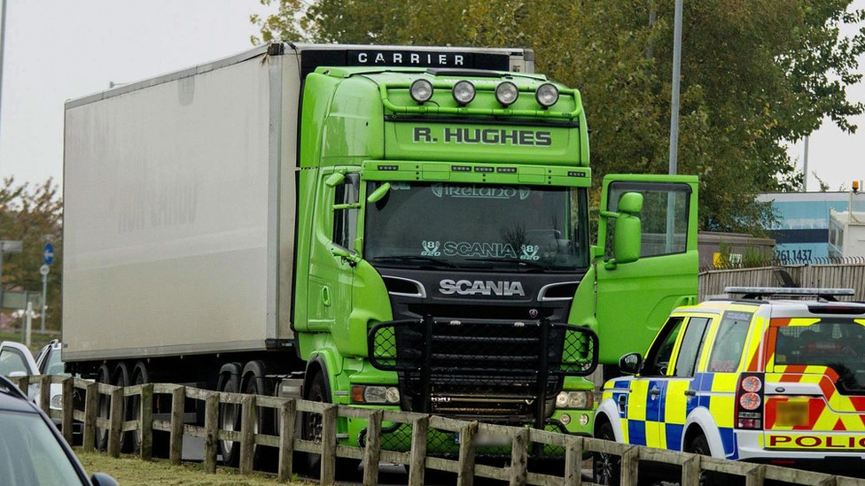 Police stopped a lorry on Thursday, believed to be connected to the Hughes brothers