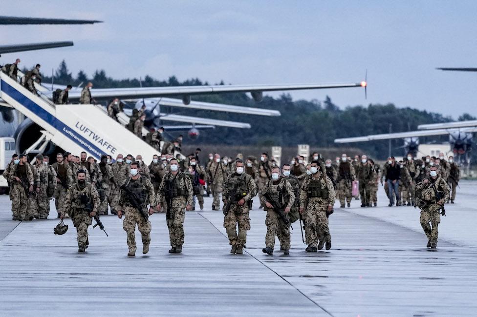 German troops return home after pullout last week