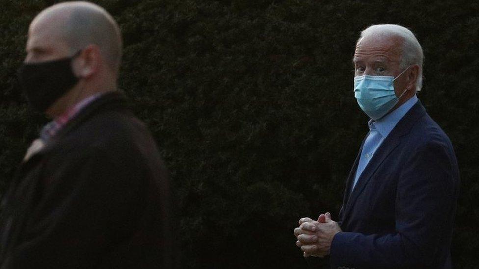 US President-elect Joe Biden (right) in Wilmington, Delaware. Photo: 21 November 2020