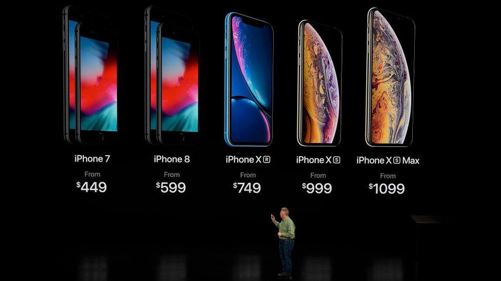 Presentación de los nuevos modelos de iPhone en 2018.