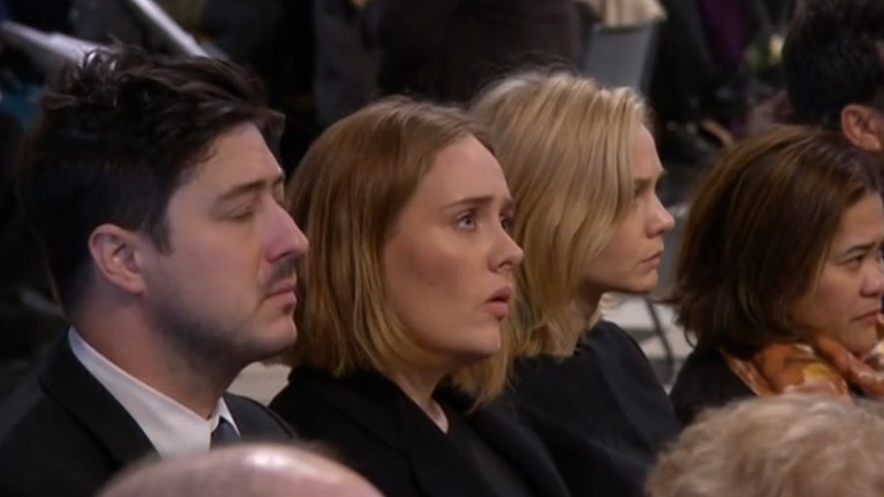 Adele at Grenfell memorial