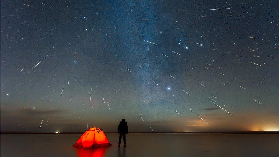 Lluvia de meteoros en 2018 vista desde China.